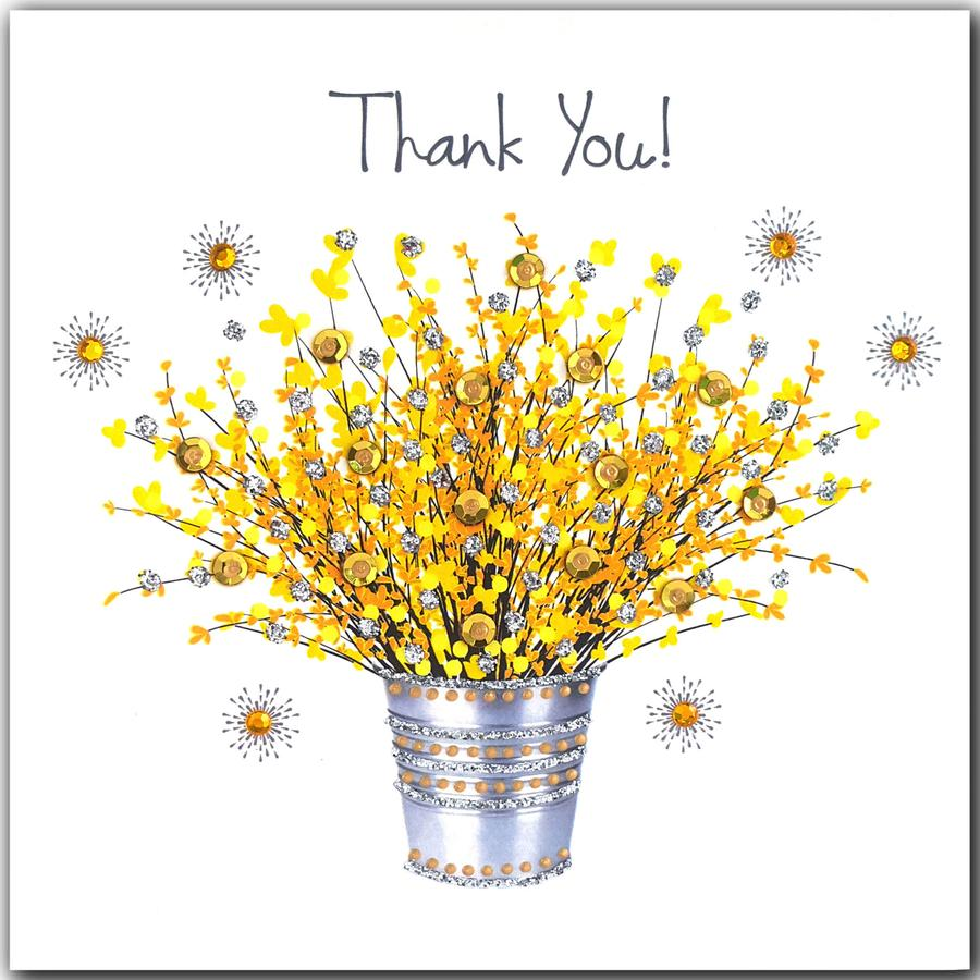 Jaab Cards - Yellow Thank You Flowers