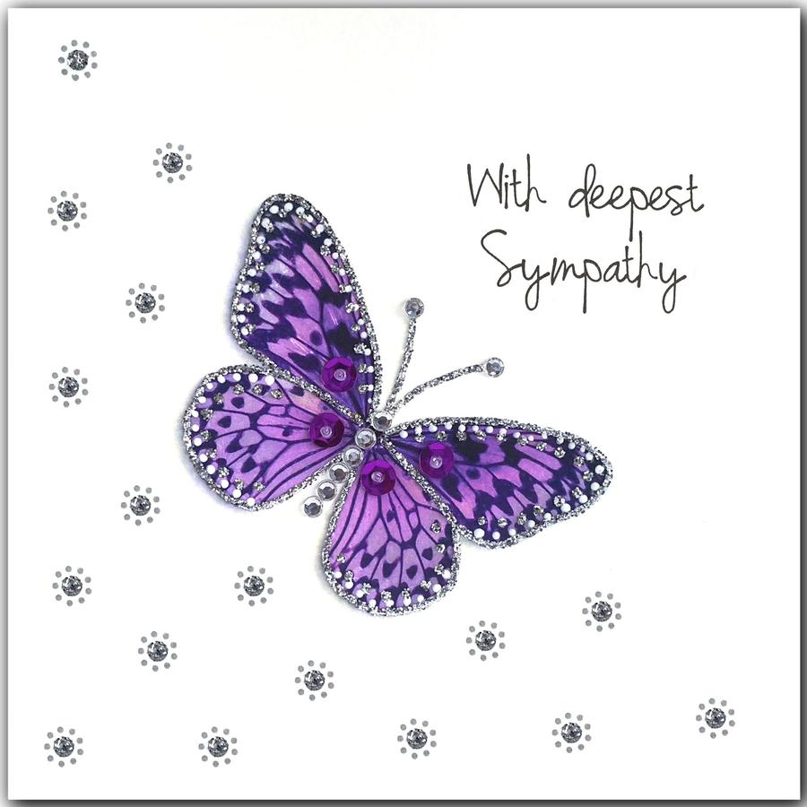 Jaab Cards - Purple Butterfly Sympathy
