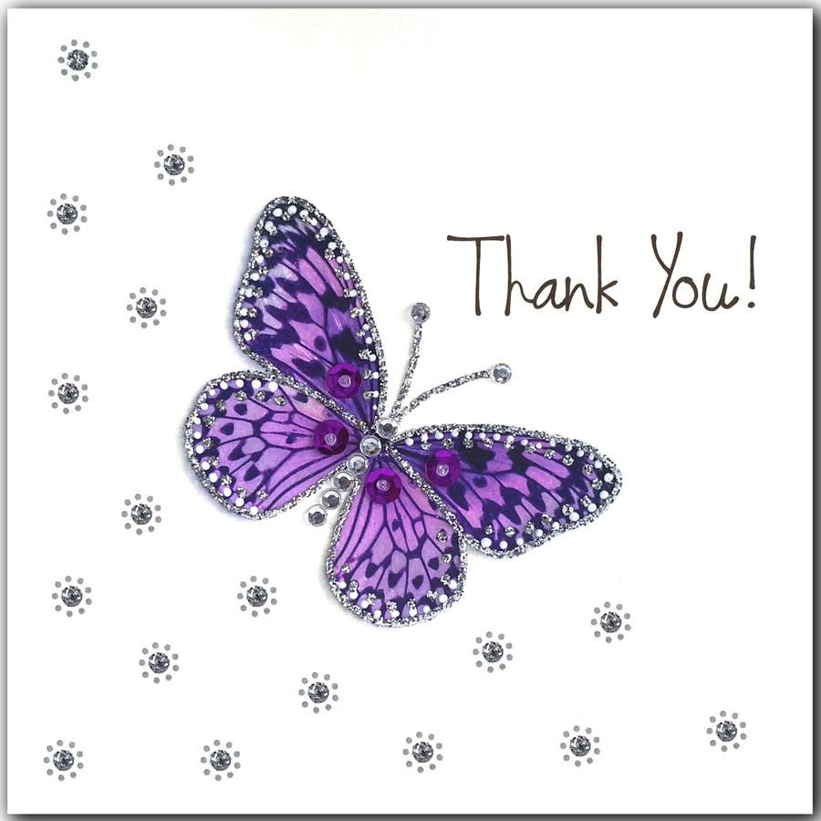 Jaab Cards - Purple Butterfly Thank You