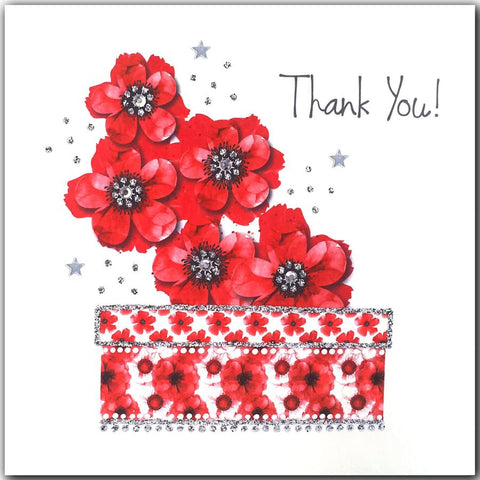 Jaab Cards - Scarlet Thank You Flowers