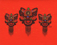 Jaab Cards - Chinese Lions