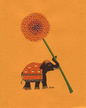Jaab Cards - Elephant with Flower