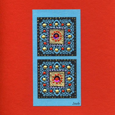 Jaab Cards - Hilltribe Squares (square card)