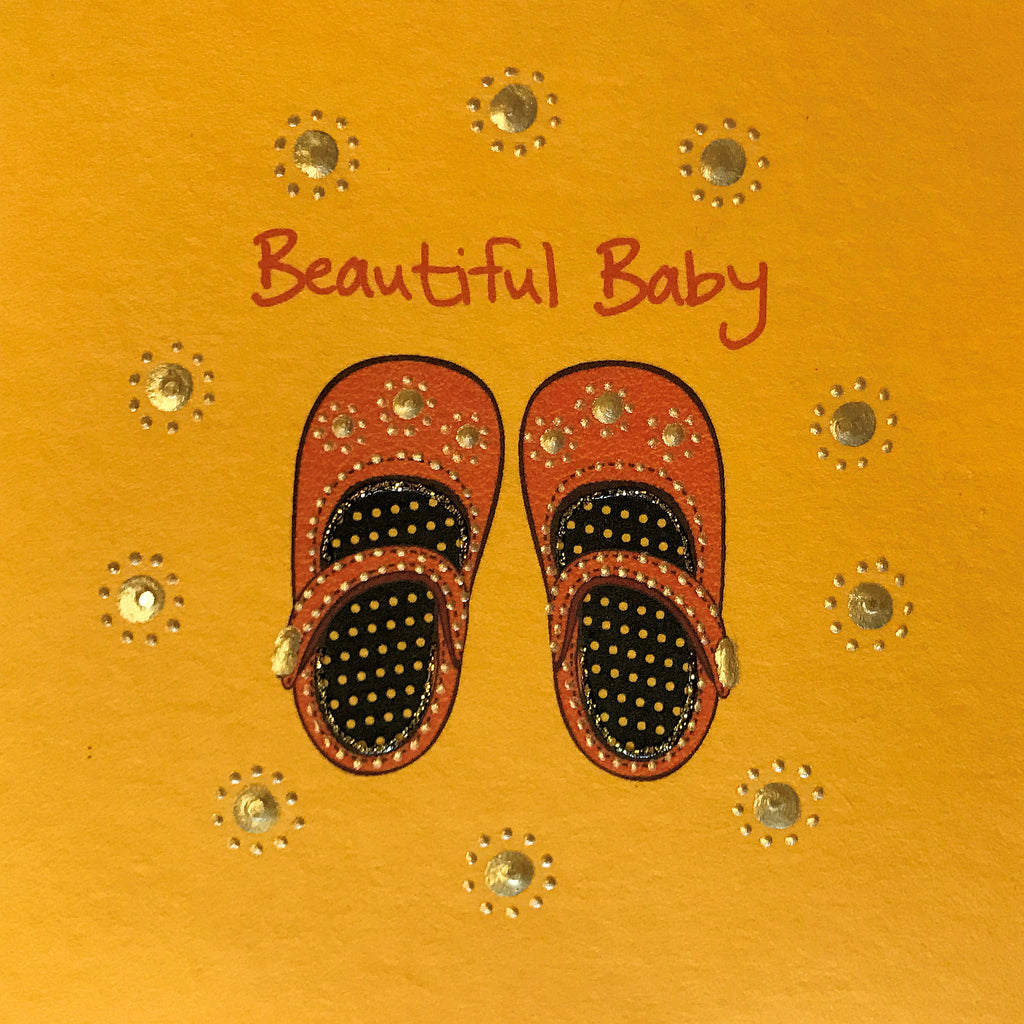 Jaab Cards - Baby Shoes (Beautiful Baby)