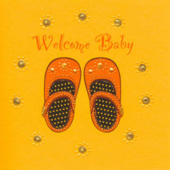 Jaab Cards - Baby Shoes (Welcome Baby)