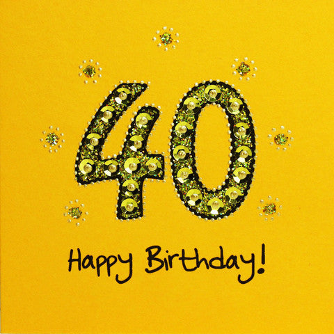 Jaab Cards - 40th Birthday Card