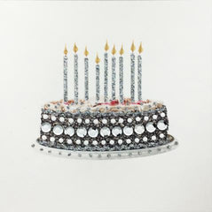 Jaab Cards - Silver Birthday Cake Card