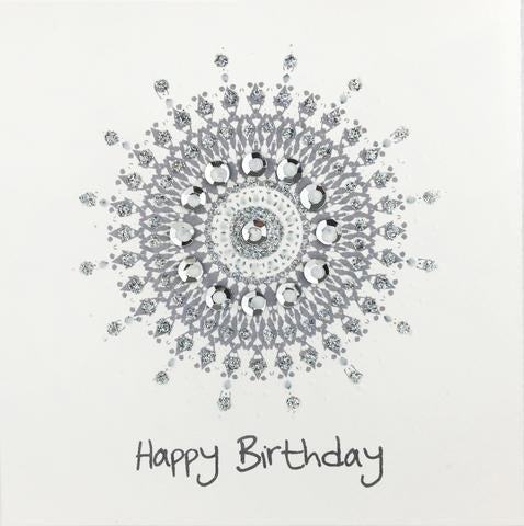 Jaab Cards - Silver Sun Birthday Card