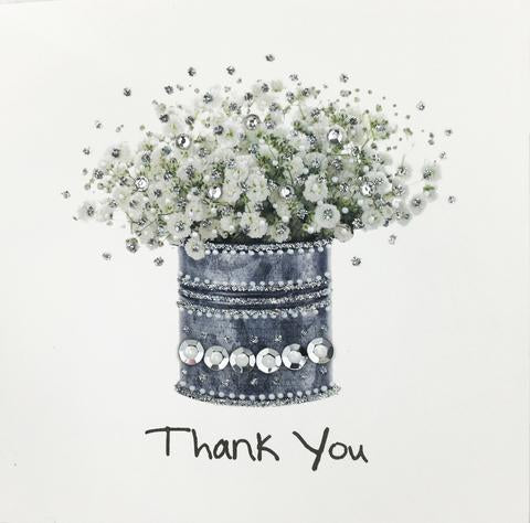 Jaab Cards - Silver Thank You Card