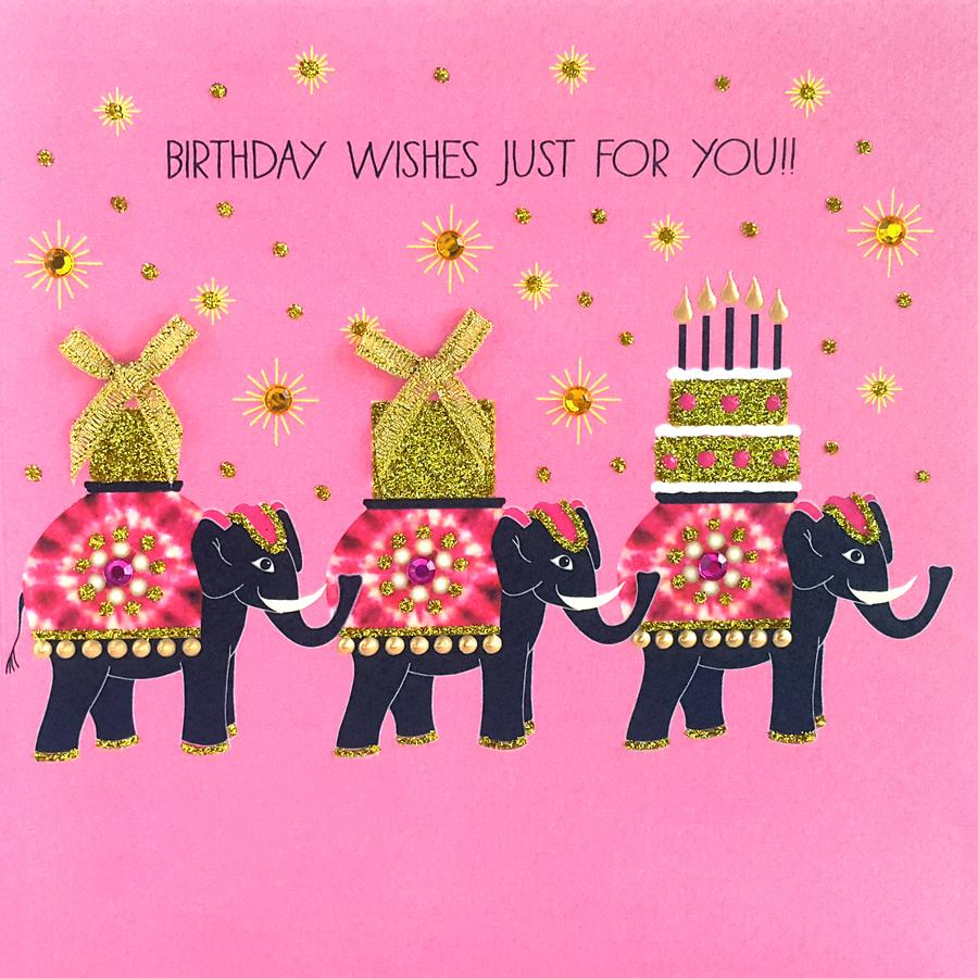 Jaab Cards - Birthday Elephants (Pack of 5)