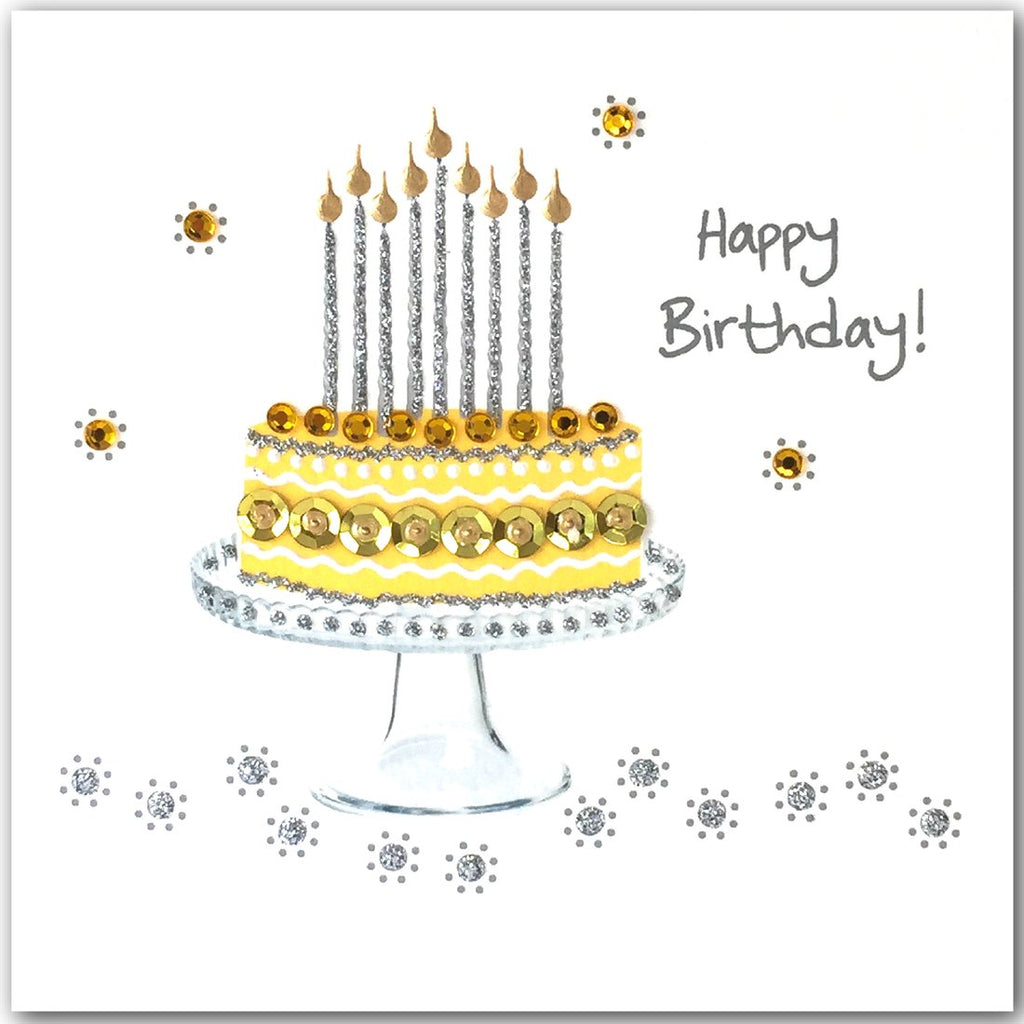Jaab Cards - Yellow Birthday Cake