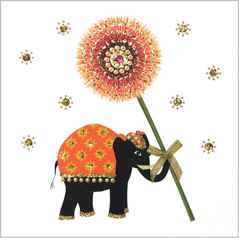Jaab Cards - Elephant with Flower (Pack of 5)