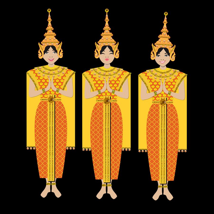 Jaab Cards - Thai Dancers (Pack of 5)