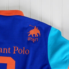 Youth - Royal Blue/Tangerine Elephant Polo Jersey