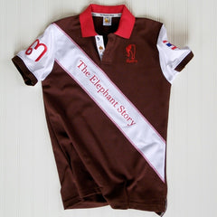 The Elephant Story Brown and Red Elephant Polo Jersey