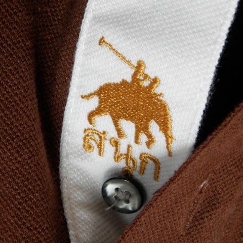 Youth - Brown/Red Sash Elephant Polo Jersey