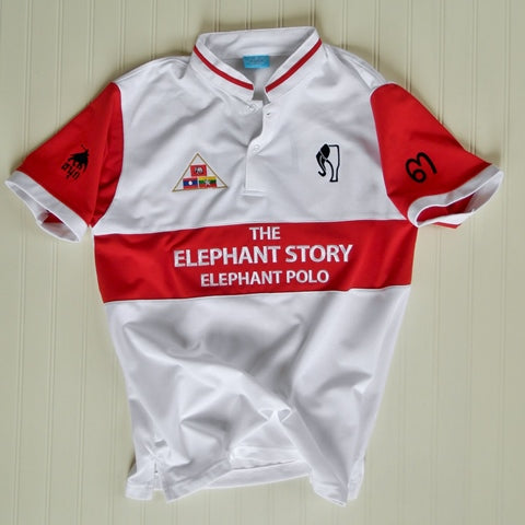 Red/White Elephant Polo Jersey