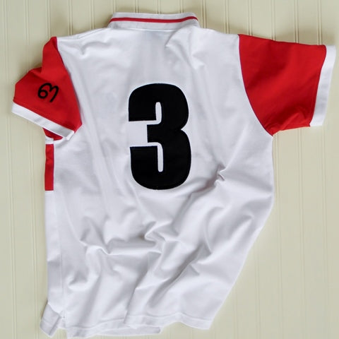 Red & White Elephant Polo Jersey