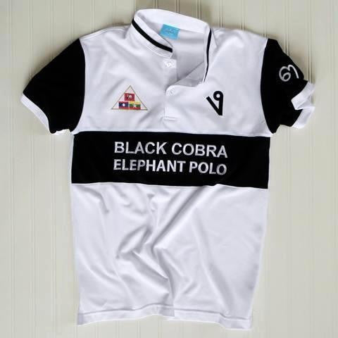 Black Cobra Elephant Polo Jersey