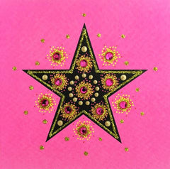 "Jaab Cards - Jewelled Star (5-Pack 3.5"" x 3.5"")"