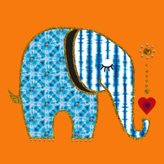 "Jaab Cards - Batik Elephant (5-Pack 3.5"" x 3.5"")"