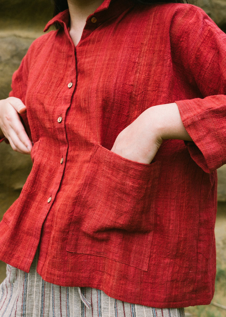 CROW Organic Red Shirt