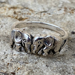Two Elephants Facing Each Other Ring
