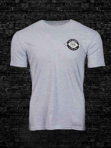 Old School Bench Flag Grey Gray Tee Shirt