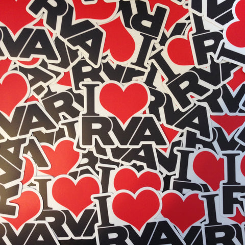 I LOVE RVA Sticker