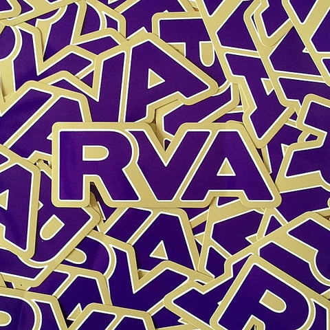 Purple & Gold RVA sticker
