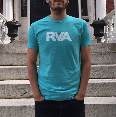 Blue and white RVA shirt