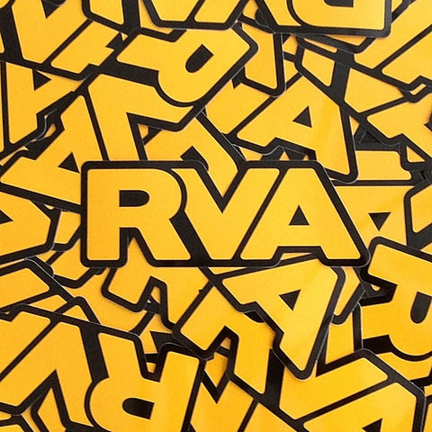 Black & Gold RVA sticker