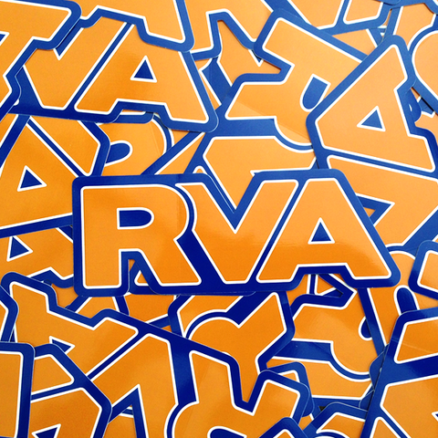 Blue & Orange RVA sticker