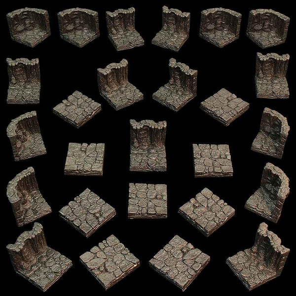 Game Tiles Cavern set unpainted, stretch goal