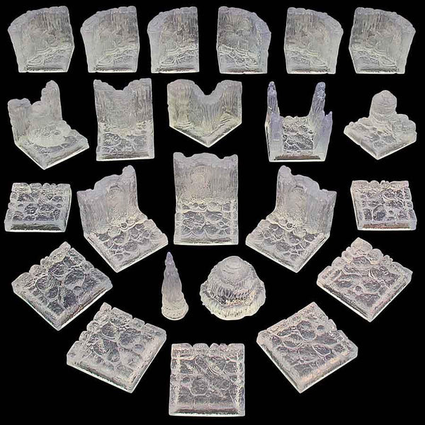 Game Tiles Ice Cavern Set unpainted