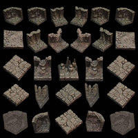 Game Tiles Cavern Set unpainted