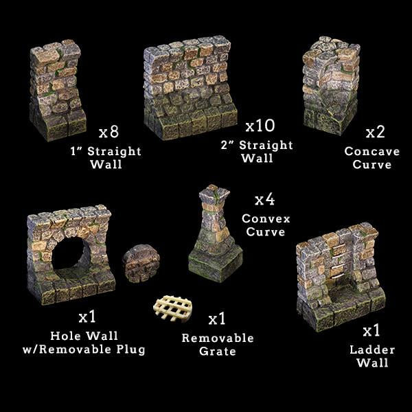 Sewer Wall Add-On Pack - painted
