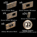 Stone Wall & Post Add-On Pack - painted