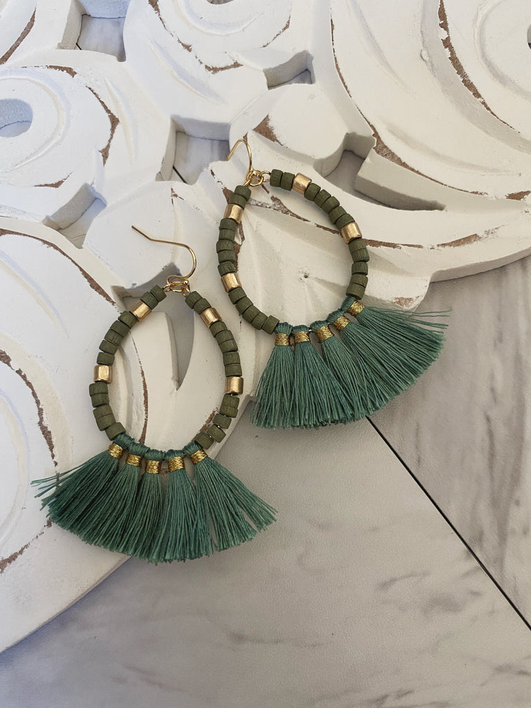 Myra Earrings (Sage)