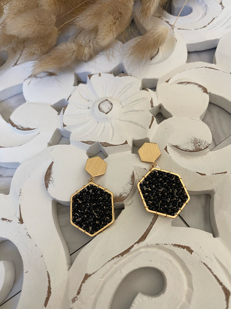 Onyx Earrings (Black)
