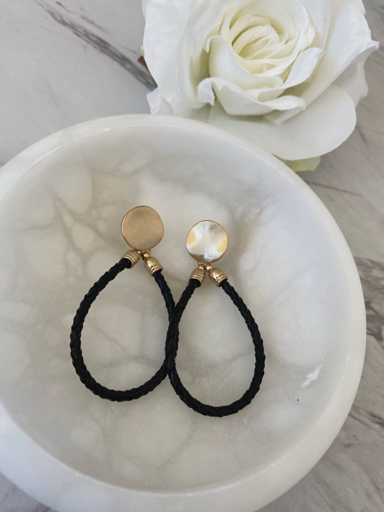 Teardrop Earrings (Black)