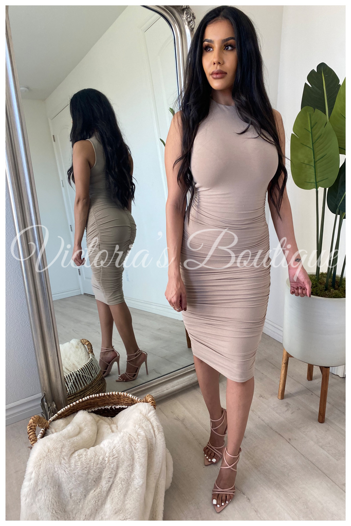 Day Dreamer Dress (Taupe)