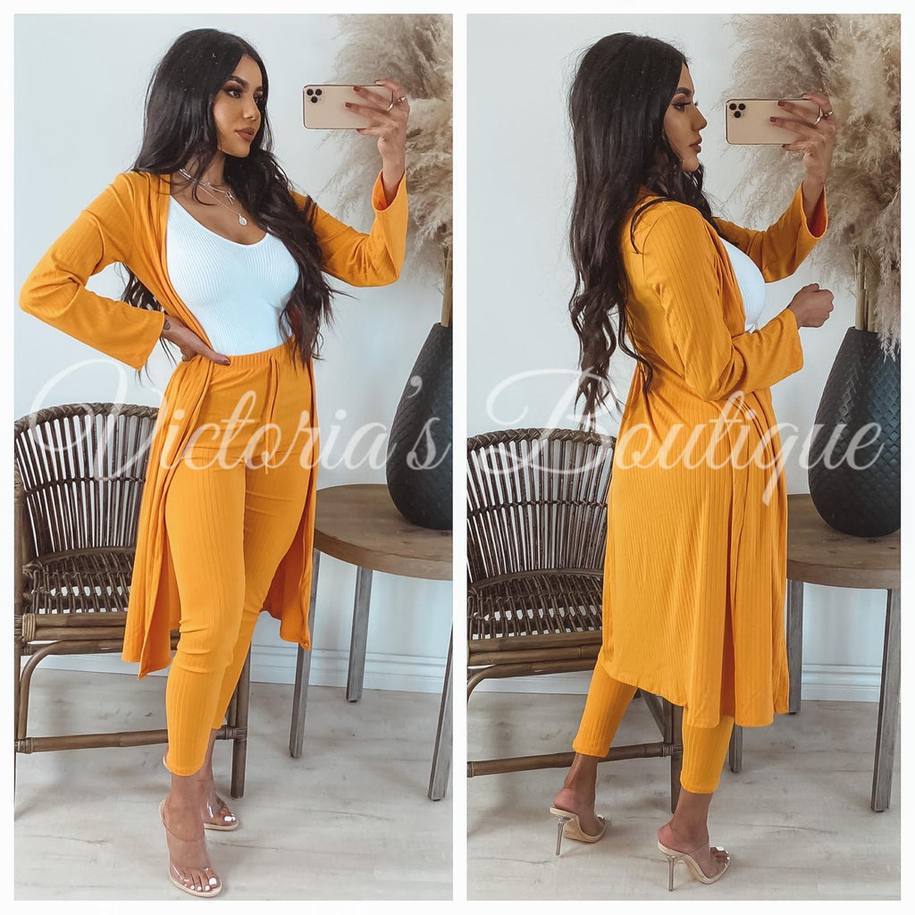 Millie Two Piece Set (Fall Mustard)