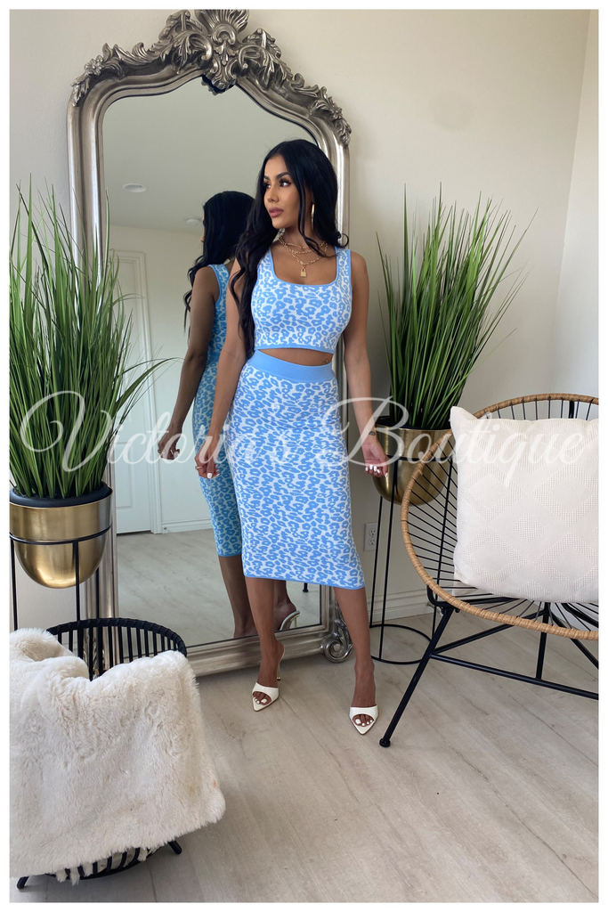 Sleek Touch Two Piece Set (Blue)