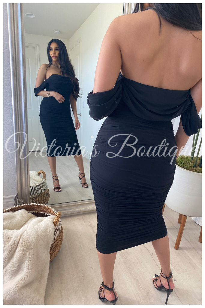 Sultry Desire Dress (Black)
