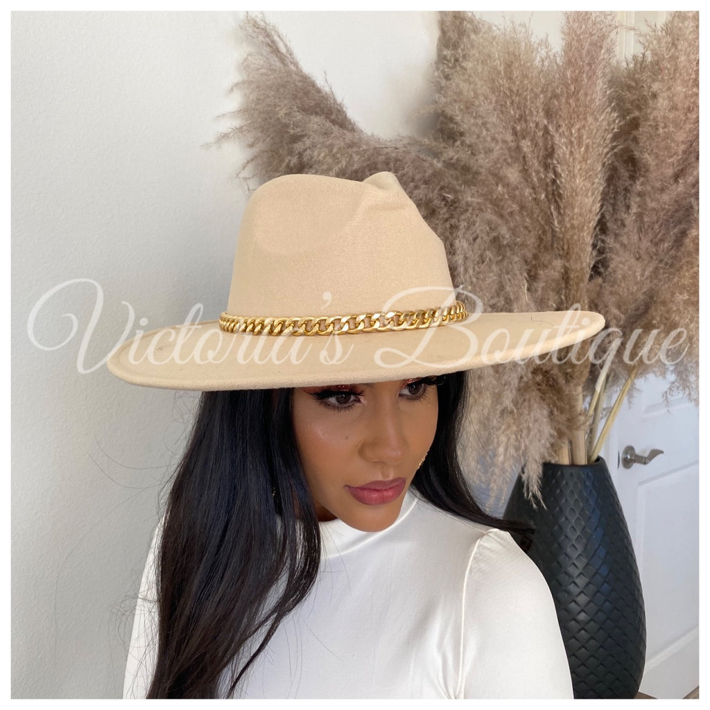 Make Me Wonder Fedora Hat (Beige)