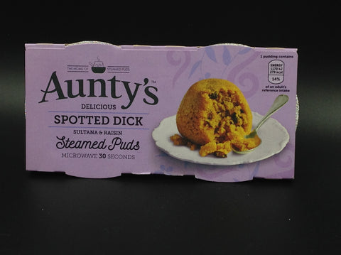 Aunty's Spotted Dick Steamed Puds 2x95g