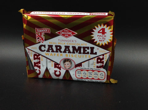 Tunnock's Milk Chocolate Caramel Wafer Biscuits 4x30g