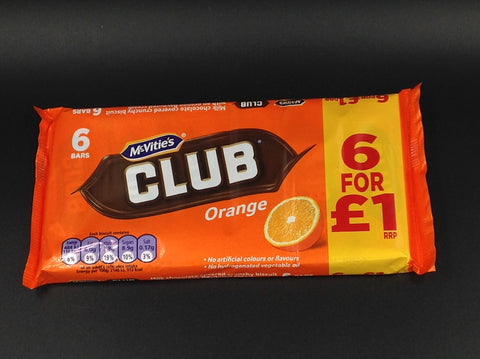 McVitie's Club Orange Bars 6x22g