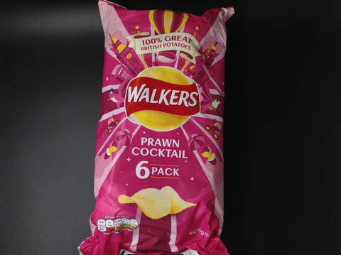Walker's Prawn Cocktail Crisps 6x25g